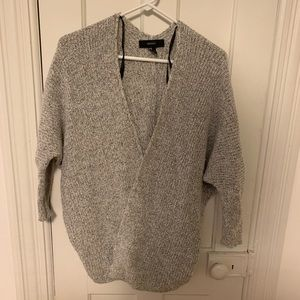 Forever 21 Cardigan Sweater Cream Gray Small